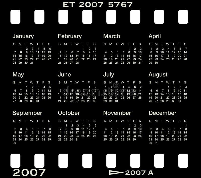 Calendario8_b stock de ilustración