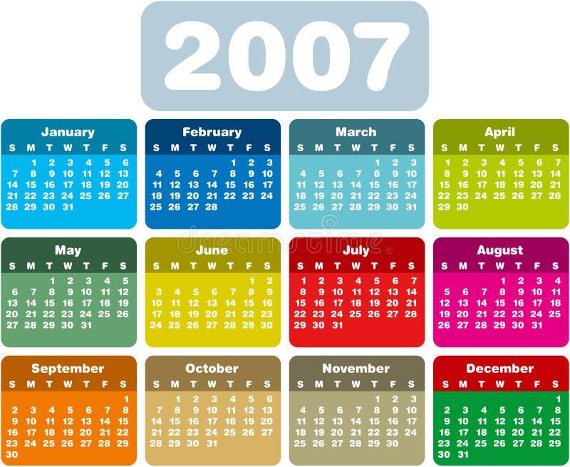 calendario9 ε διανυσματική απεικόνιση