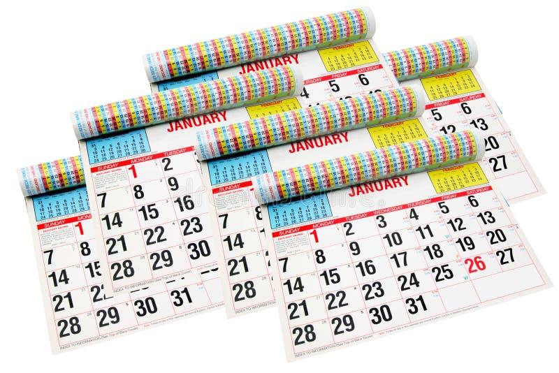 Calendarios foto de archivo