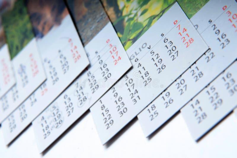 Calendarios mensuales imagenes de archivo