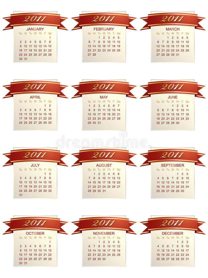 Download Calender for 2011 stock vector. Illustration of date - 18036392