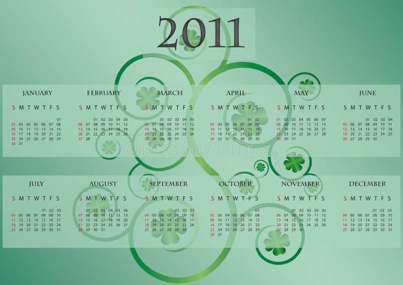 Download Calender 2011 shamrock stock vector. Illustration of irish - 16351299