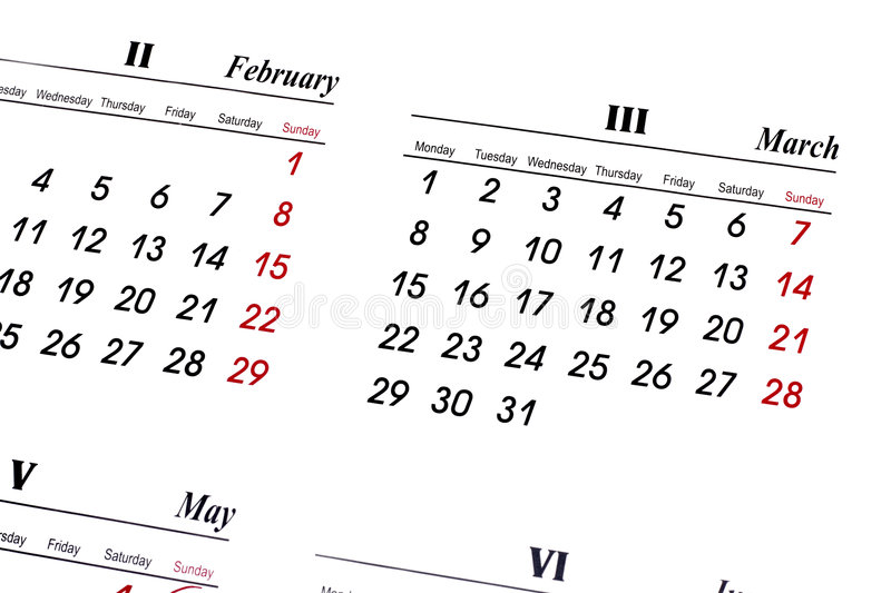 Download Calender stock image. Image of date, schedule, monday - 4581791