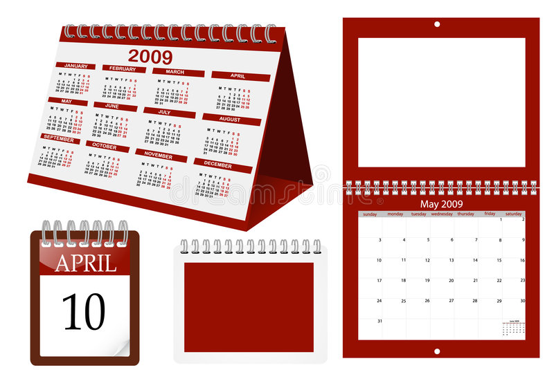 Calender. A set of calender templates vector illustration