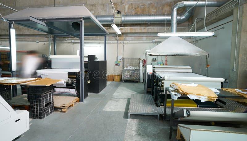 Calender transfer machine for textile fashion print royalty free stock photo