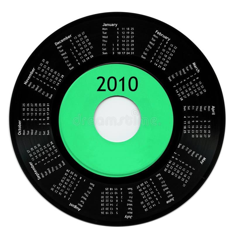 Calendrier 2010 illustration libre de droits