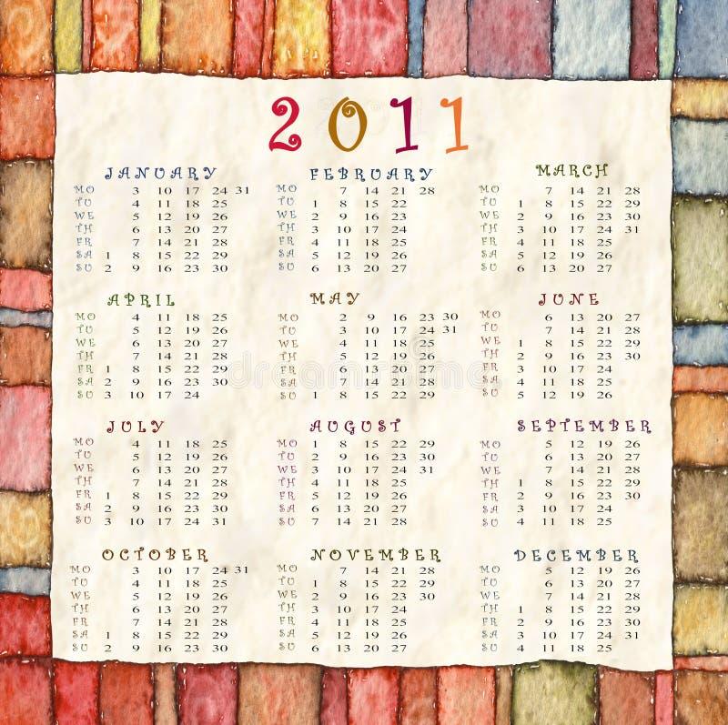 Calendrier 2011 photos libres de droits
