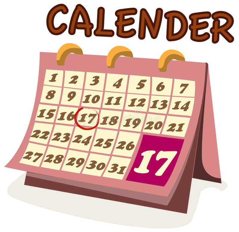 Calendrier illustration stock