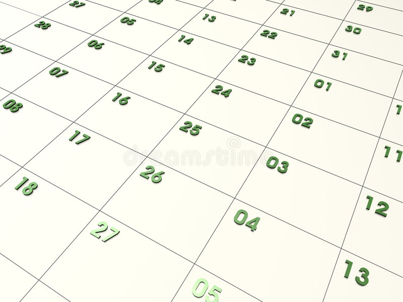 CALENDRIER 3D illustration de vecteur