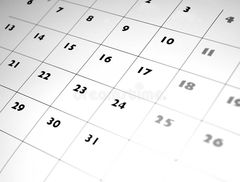 Calendrier photos stock