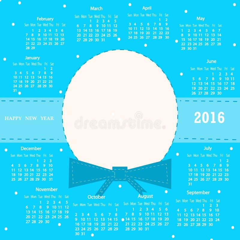 Calendrier 2016 images libres de droits