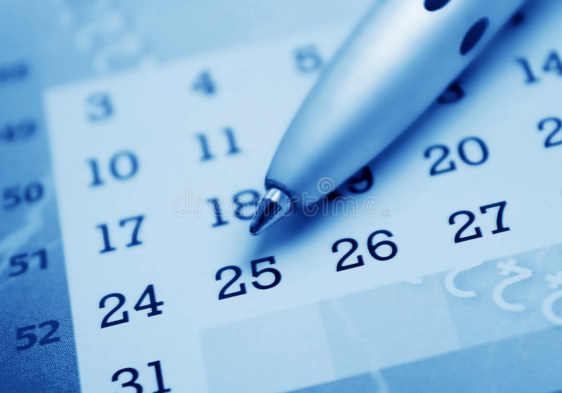 Calendrier photographie stock