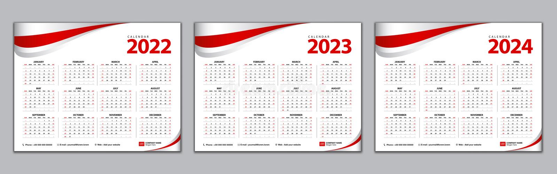 Calendrier 2022 Design Calendrier 2022 2023 2024 Année Modèle Calendrier Simple