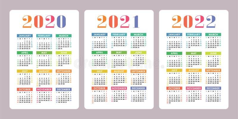 Calendrier 2020 2021.Calendrier 2020 2021 2022 Ans Conception Verticale De