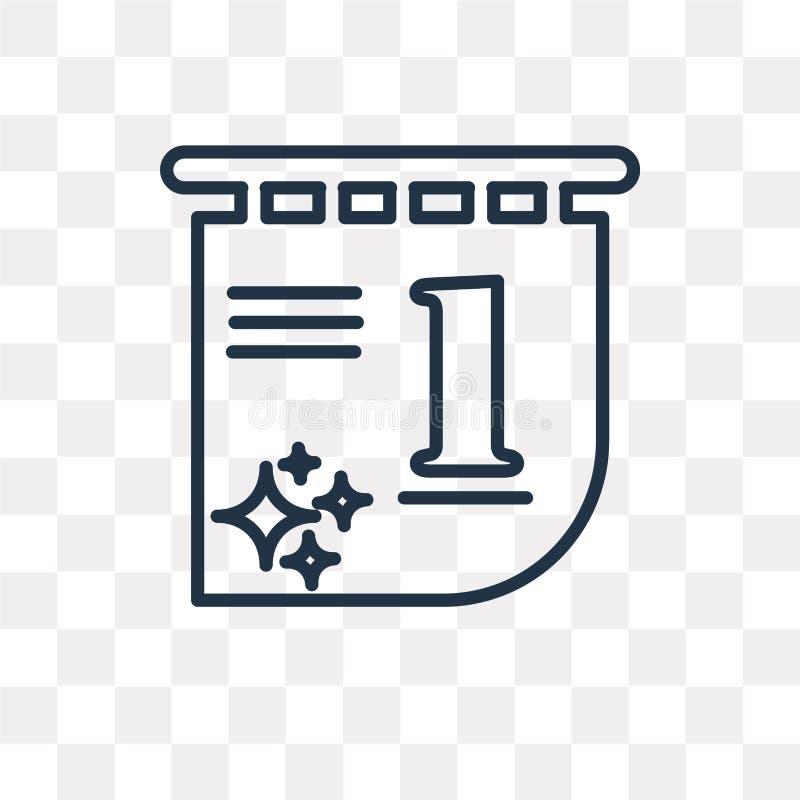 Calendrier avec l'icône de vecteur de date d'isolement sur le backgroun transparent illustration de vecteur