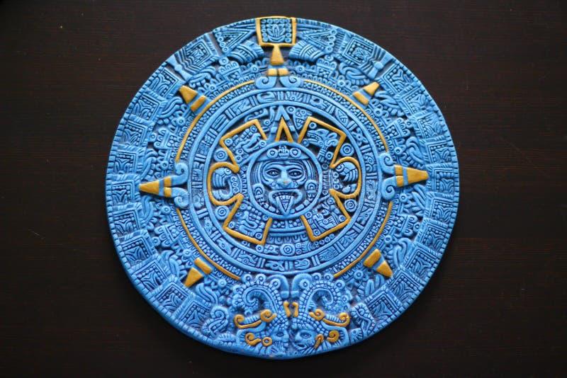 Calendrier aztèque de Cancun Mexique image stock