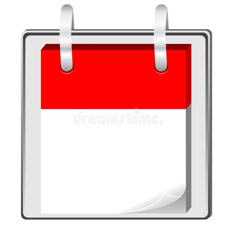 Calendrier blanc illustration stock