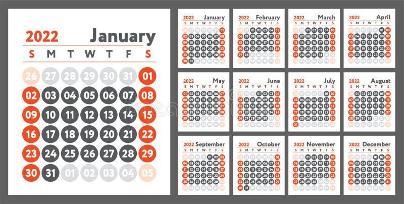 Calendrier 2022 Anglais Calendrier 2022. Conception De Planificateur Du Nouvel An