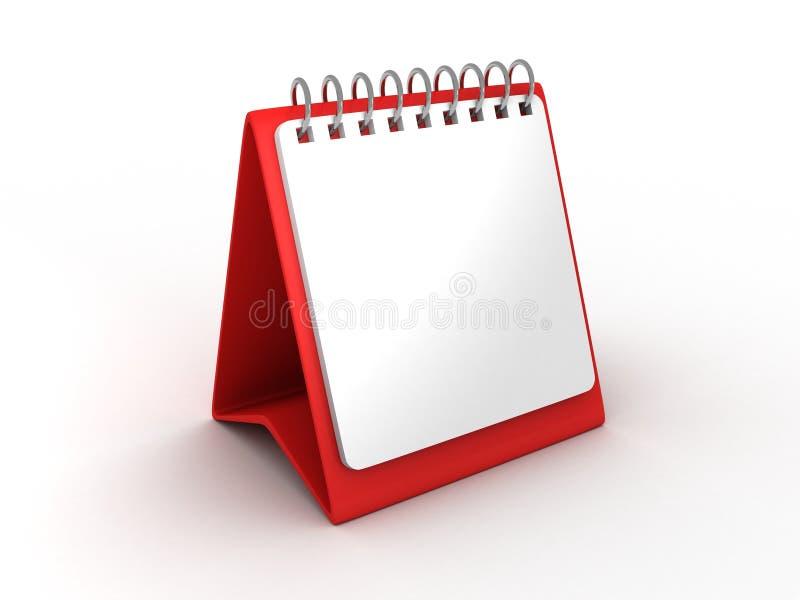 Calendrier de bureau de papier blanc pour le bureau illustration libre de droits