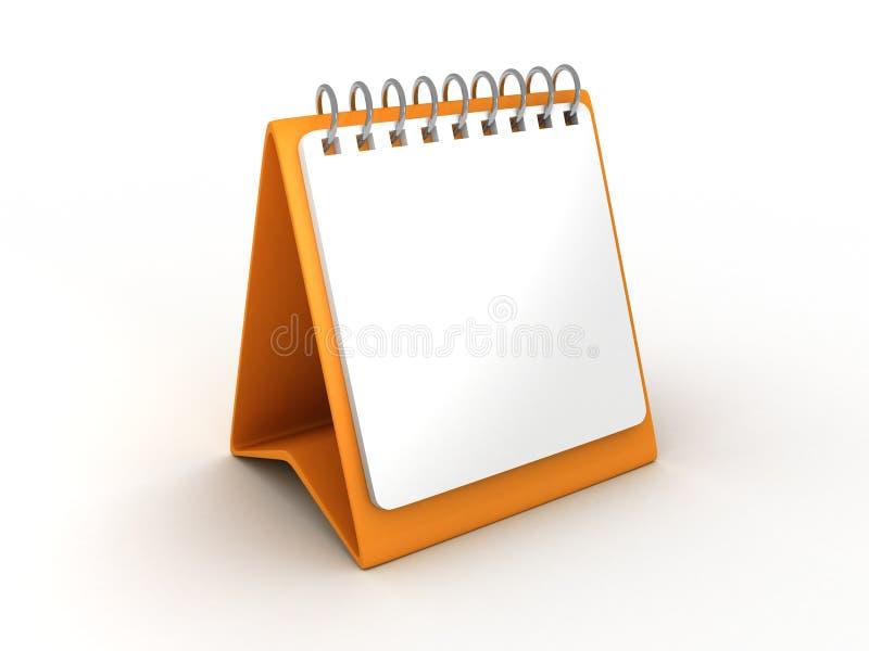 Calendrier de bureau orange blanc illustration libre de droits