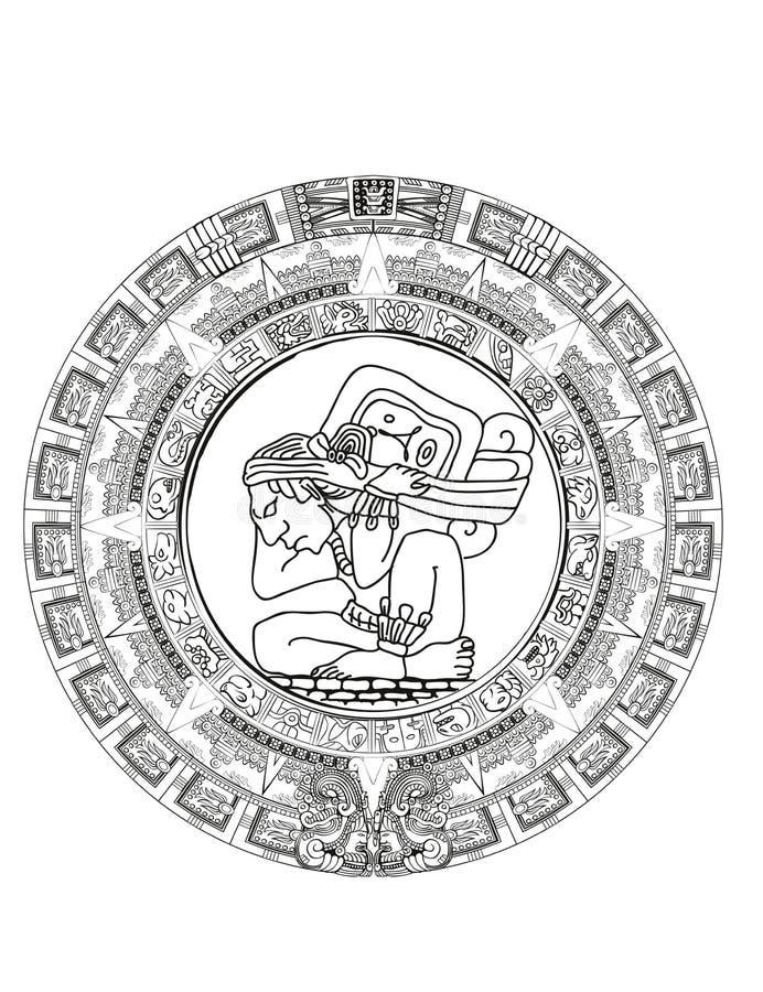 Calendrier Maya Signe.Calendrier De Maya Des Signes Maya Ou Azteques D Hieroglyphe