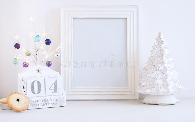 Calendrier de Noël - 04 sommeils jusqu'à Noël images stock
