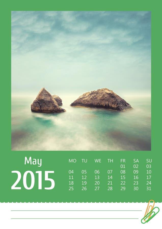 calendrier 2015 de photo pouvez photographie stock