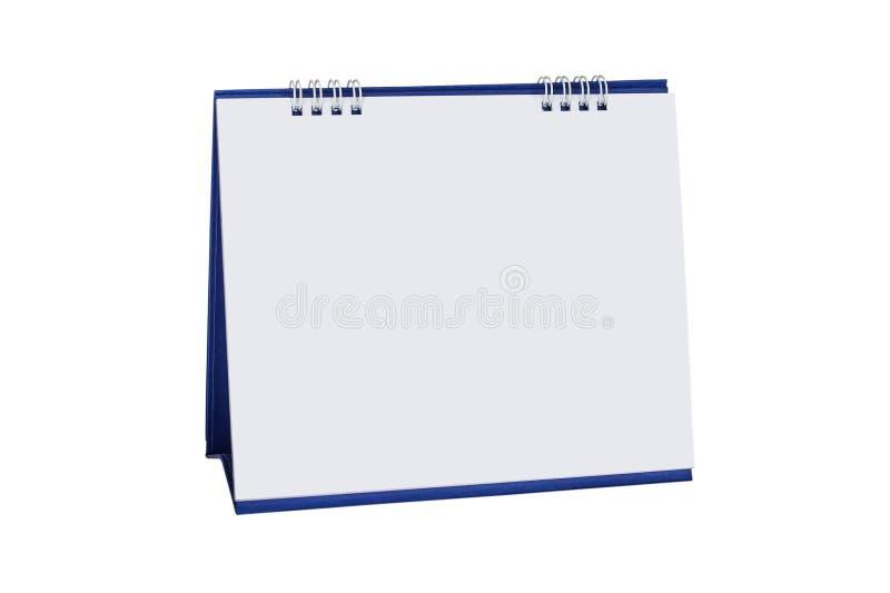 Calendrier de spirale de bureau de papier blanc images stock