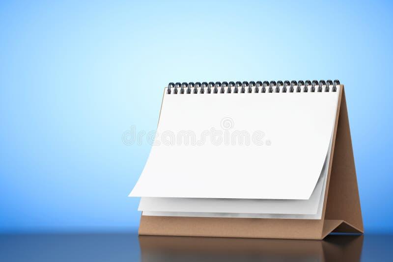 Calendrier de spirale de bureau de papier blanc rendu 3d illustration libre de droits