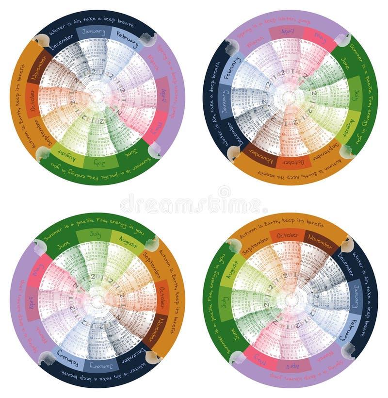 Calendrier 2014 de vecteur illustration stock