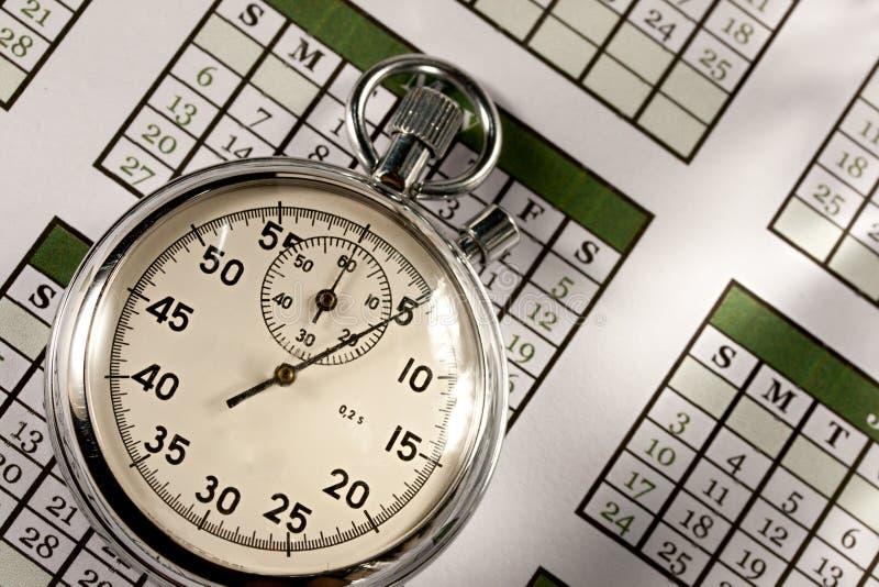Calendrier et chronomètre photos stock