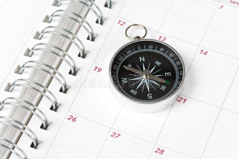Calendrier et compas image libre de droits