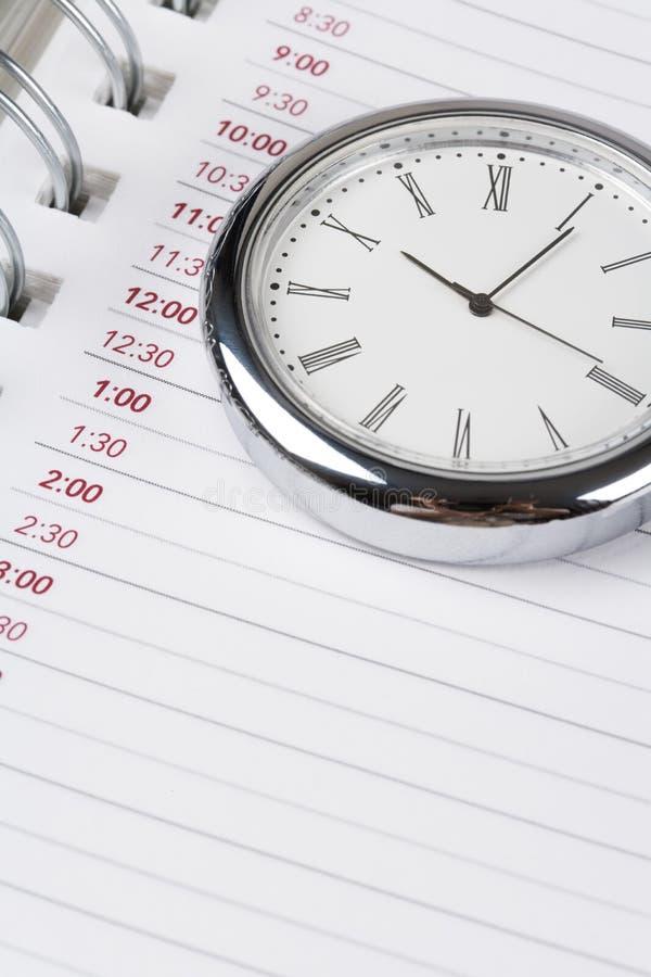 Calendrier et horloge photographie stock libre de droits
