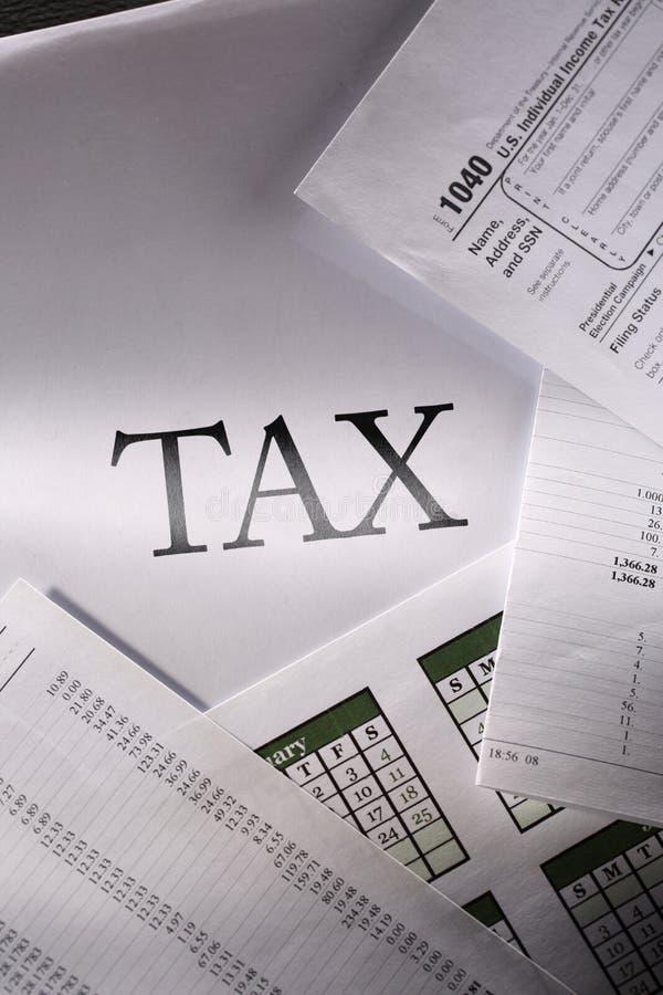 Calendrier et impôt image libre de droits