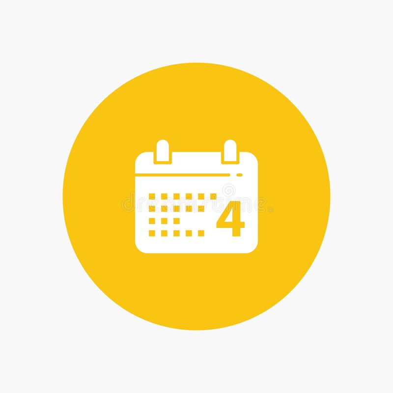 Calendrier, jour, date, Américain illustration de vecteur