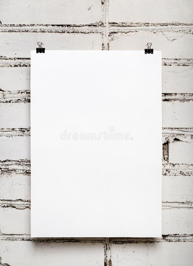 Calendrier mural vide photographie stock libre de droits