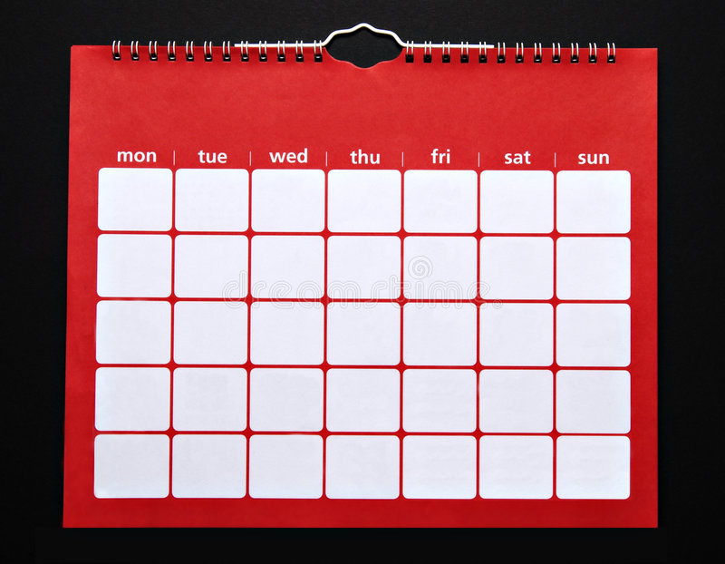 Calendrier ordinaire images stock