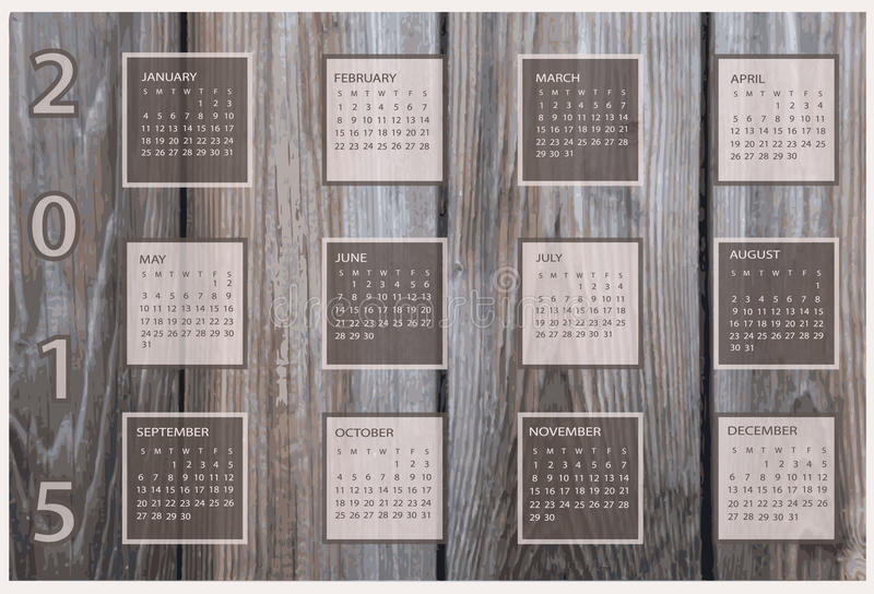 Download Calendrier Pendant 2015 Années Illustration Stock - Illustration du lumière, quotidien: 56481457