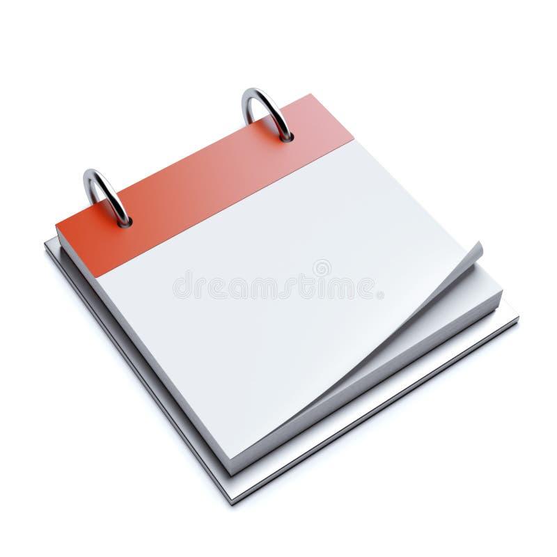 Calendrier vide rouge illustration de vecteur