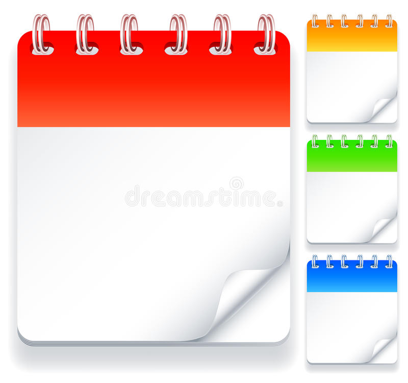Calendriers. illustration stock