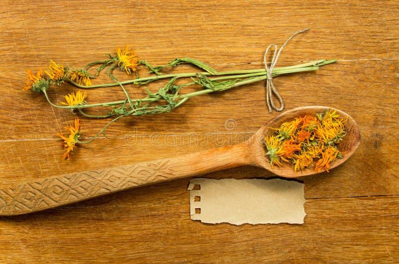 Calendula Herbes sèches Phytothérapie, médicinal phytotherapy images stock