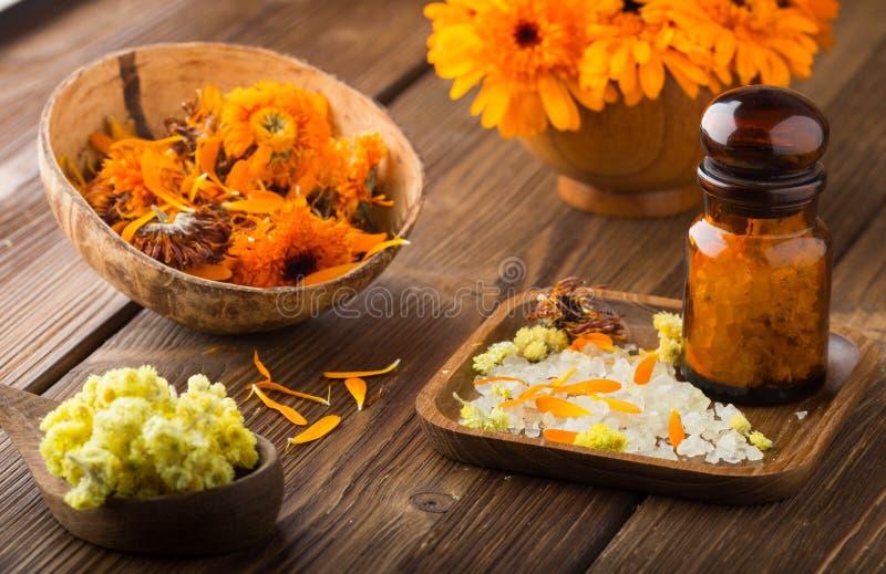 Calendula homeopathic. stock photos
