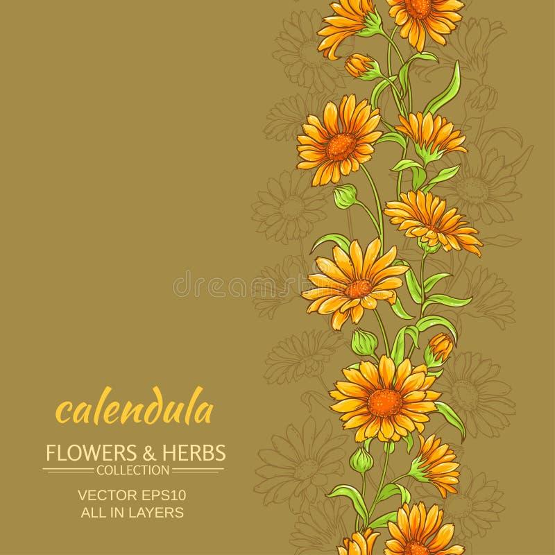 Calendula vectorachtergrond stock illustratie