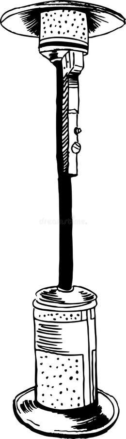 Calentador stock de ilustración
