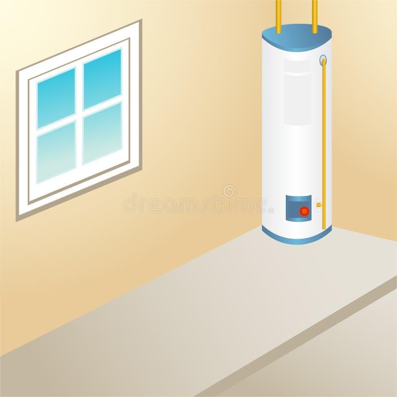 Calentador de agua al aire libre ilustración del vector