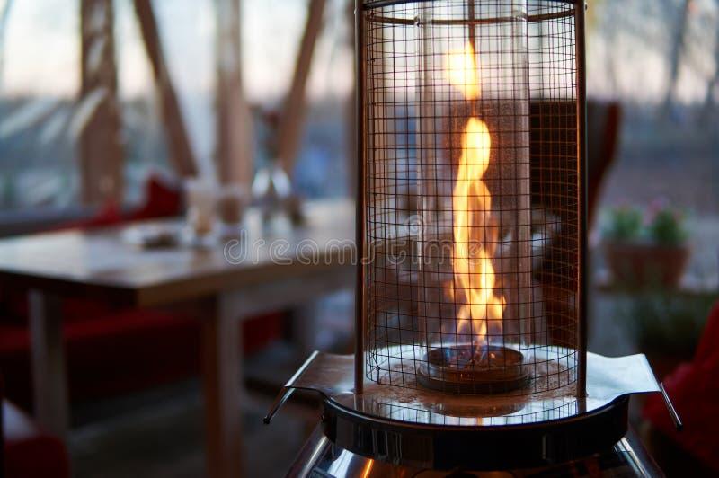 Calentador de gas del aire libre imagen de archivo libre de regalías