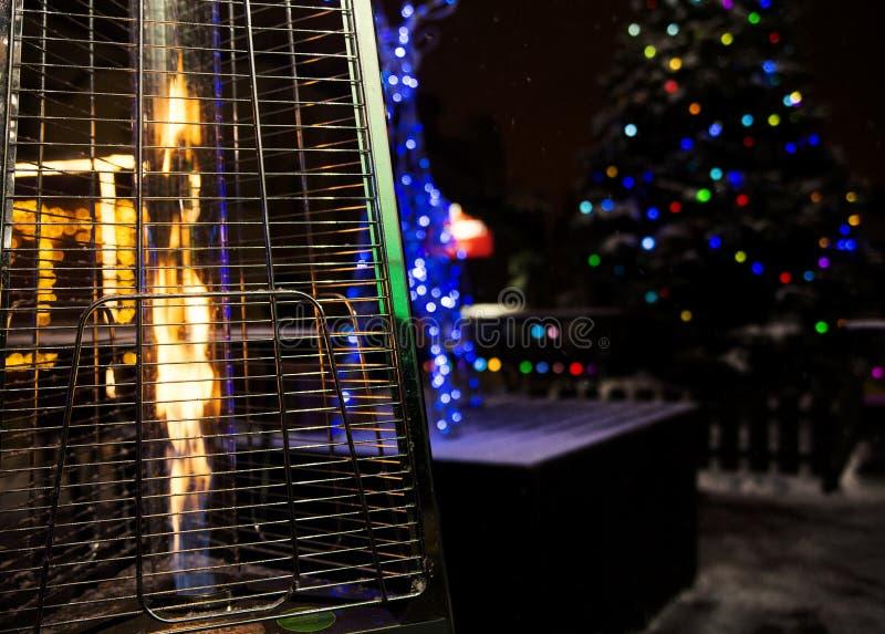 Calentador de gas para el patio foto de archivo libre de regalías