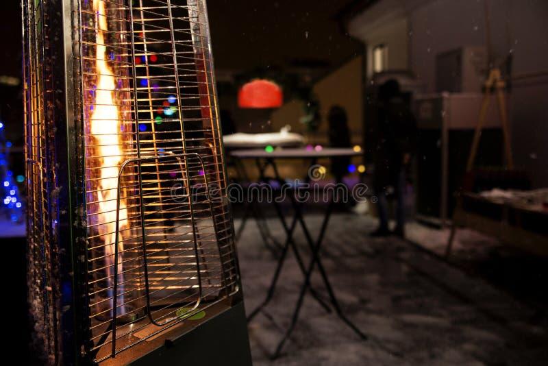 Calentador de gas para el patio foto de archivo