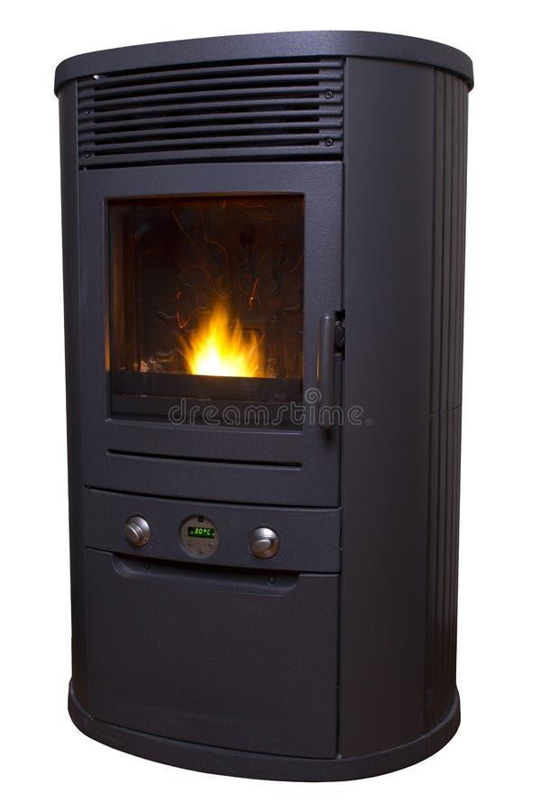 Calentador de la pelotilla de la biomasa aislado imagen de archivo
