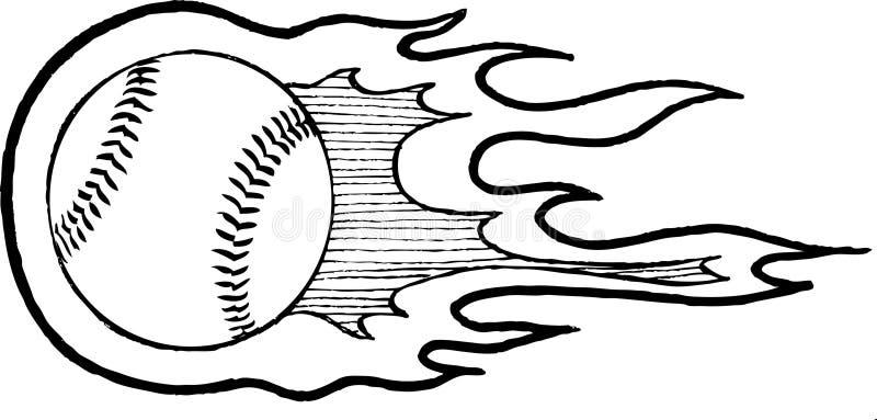 Calentador del béisbol stock de ilustración